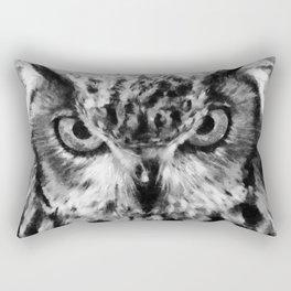 owl look digital painting orcbw Rectangular Pillow