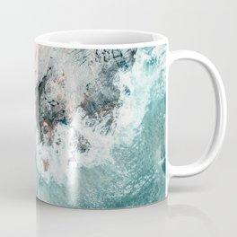 Ocean Print, Ocean Art, Printable Art, Waves Print, Ocean Rocks, Aerial Photography, Coastal Ocean Printable Wall Art Coffee Mug