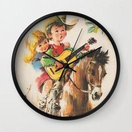 Little Cowboy Wall Clock