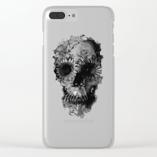 Skull 2 / BW Clear iPhone Case