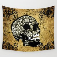 skull Wall Tapestries featuring Skull by nicky2342