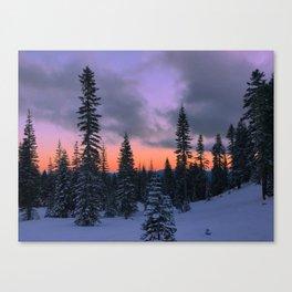 Mount Shasta Sunset Canvas Print