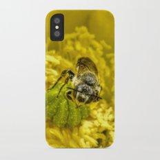 Rainy Day Cactus Flower Bee iPhone X Slim Case