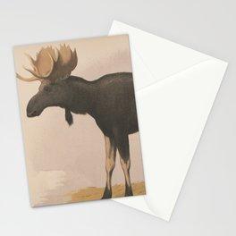 Vintage Illustration of a Moose (1874) Stationery Cards