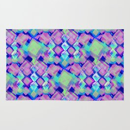 Square Pastel Pink Pattern Rug