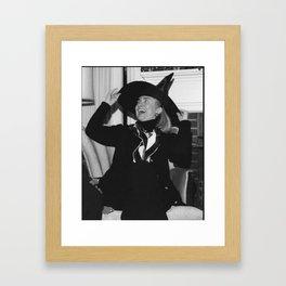 hill witch bw Framed Art Print