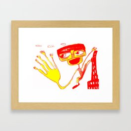 give me 5 Framed Art Print