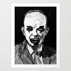 34. Zombie Dwight D. Eisenhower Art Print