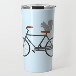 Squirrel Riding Bike Travel Mug