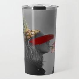 Blind Society Collage Art Travel Mug