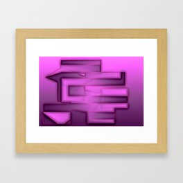 Soft & hard, light & dark ... Framed Art Print