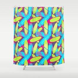 Cool Kite Surf Boards Summer Pattern Shower Curtain