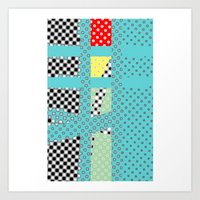 dots Art Prints featuring DOTS by  ECOLARTE