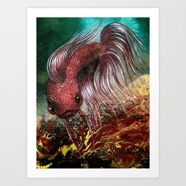 Bird the Betta Fish Art Print