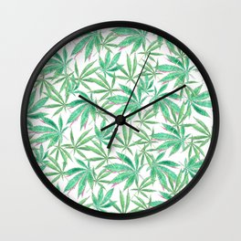 420 Leaves Wall Clock