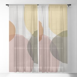 Pastel Shapes II Sheer Curtain