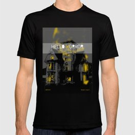 HelloHorror Issue 3 Cover - Haunted House T-shirt