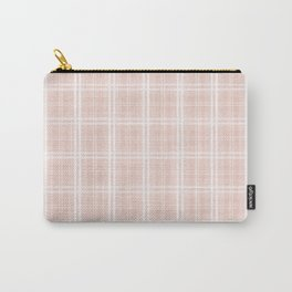 Spring 2017 Designer Color Pale Pink Dogwood Tartan Plaid Check Carry-All Pouch