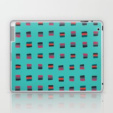 Pixel Pattern turquoise Laptop & iPad Skin