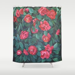 Camellias, lips and berries. Shower Curtain