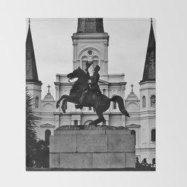 Jackson Square, squared Throw Blanket