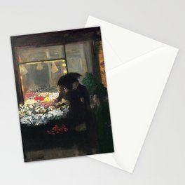 American Masterpiece 'Easter Eve' Washington Square, NY by John French Sloan Stationery Cards