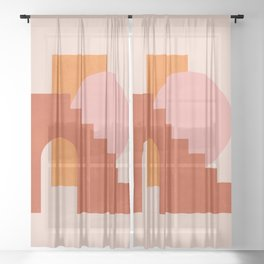 Abstraction_SHAPES_COLOR_Minimalism_003 Sheer Curtain
