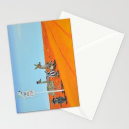 Aussie Outback Bus Stop Stationery Cards