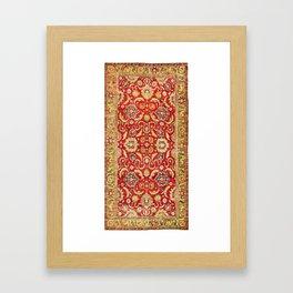 Isphahan Antique Central Persian Rug Print Framed Art Print