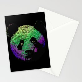 Awesome Colored Panda Stationery Cards