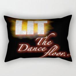 Lit the dance floor Rectangular Pillow