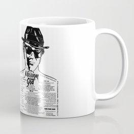 Elwood Blues Brothers tattooed 'Dry White Toast' Coffee Mug