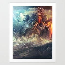 God's War (Kronos art) II Art Print