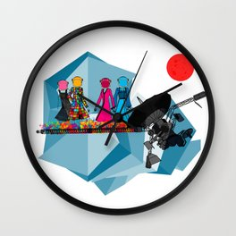 Space girls  Wall Clock