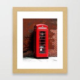 Red Phone Box- London England UK Framed Art Print
