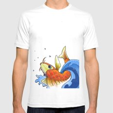 coy MEDIUM White Mens Fitted Tee