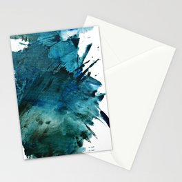Scenic Route [2]: a pretty, minimal abstract piece in blue and green by Alyssa Hamilton Art Stationery Cards