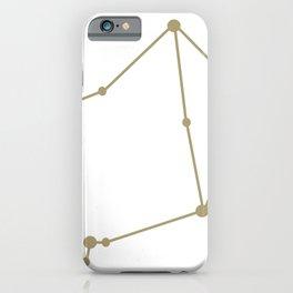 Libra (Sand & White) iPhone Case