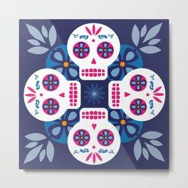 Talavera Blue Metal Print