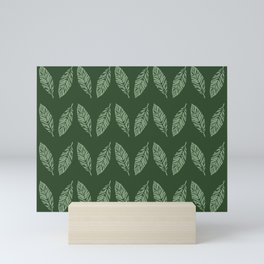 Tropical foliage emerald #tropical #leaves #homedecor Mini Art Print