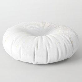 Simply Sunburst in White Gold Sands on White Floor Pillow