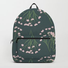 Pink Baby's Breath Pattern Backpack