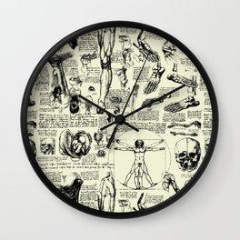 Da Vinci's Anatomy Sketchbook // Parchment Wall Clock