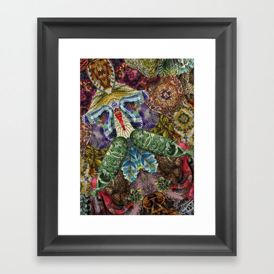 Psychedelic Botanical 5 Framed Art Print