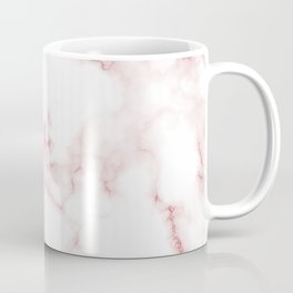 Pink Rose Gold Marble Natural Stone Gold Metallic Veining White Quartz Coffee Mug
