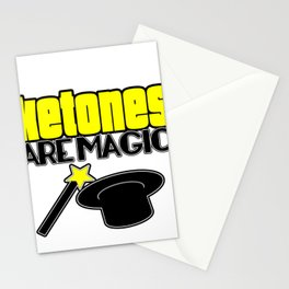 Ketones Are Magic LCHF Diet Keto Lifestyle Low Carb High Fat Stationery Cards