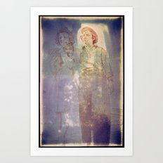 Two Young Women - circa WWII - 107 of 479  Art Print
