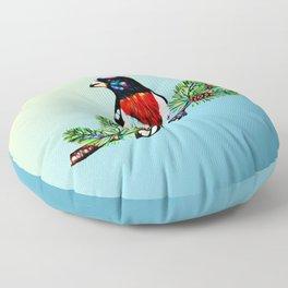 rose-breasted-grosbeak- Floor Pillow