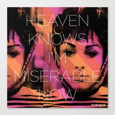 Heaven Knows I better Get Them Cha-Cha Heels Canvas Print