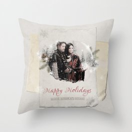 OUAT HAPPY HOLIDAYS // OUTLAW QUEEN Throw Pillow